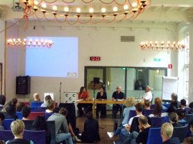 Panel discussion at DARE#1 the first of the annual Dutch Art Research Events